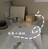 鬧鐘 ins桌面正方形電子小極簡迷你靜音聲控LED時鐘夜光床頭數碼鐘 - 風尚3C