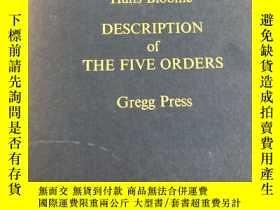 二手書博民逛書店description罕見of the five orders