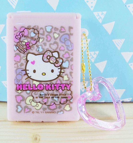 【震撼精品百貨】Hello Kitty 凱蒂貓~KITTY飾品盒附鏡-粉豹紋