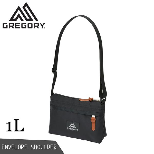 【GREGORY 美國 1L Envelope Shoulder斜背包《黑》】125406/側背包/隨身包/單肩背包