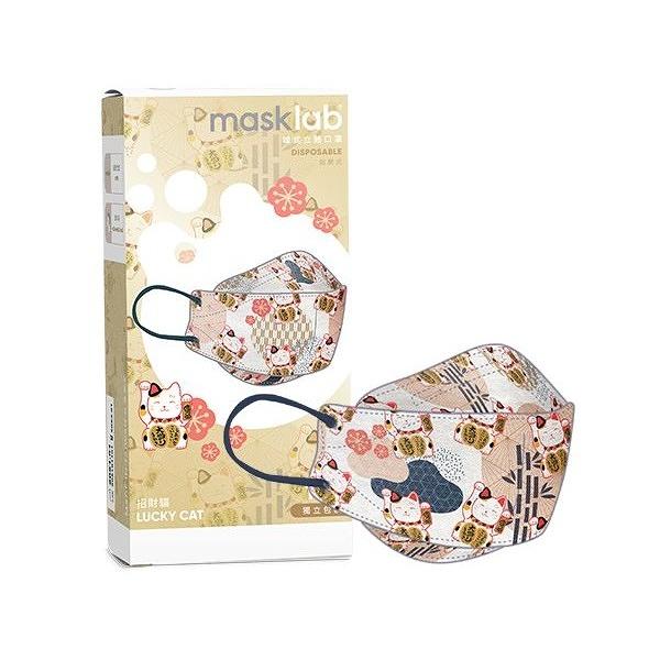 masklab 成人KF韓式立體口罩(盒裝10入)招財貓【小三美日】