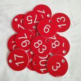 數字號碼牌寄存牌洗浴編號鑰匙牌桑拿線圈塑料手牌100個  探索先鋒