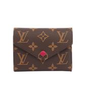 【LV】Monogram VICTORINE三折短夾(紫紅色) M41938