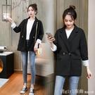 西裝外套 小西裝外套女2020年新款韓版春秋寬鬆英倫風小個子休閒網紅西服褂 618購物節