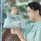 漢服古風包包女斜挎百搭中國風刺繡名媛優雅大容量配旗袍的手提包 蘿莉新品