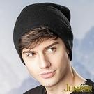 男針織毛線帽-保暖加厚羊毛防風刷毛絨滑雪冬帽子J5115 JUNIPER