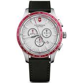 VICTORINOX 瑞士維氏 SWISS ARMY 三眼 計時碼錶 手錶(VISA-241819)/44mm