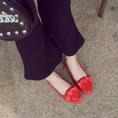 韓版蝴蝶結鞋軟底豆豆鞋 婚鞋淺口休閒鞋《小師妹》sm251