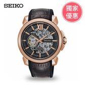 SEIKO精工 全球限量喬科維奇鏤空機械錶(4R71-00A0K)SSA374J1