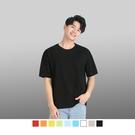 【男人幫】T1335*純棉/領口加厚圓領素面短袖T恤/9色全系列台灣製造MIT