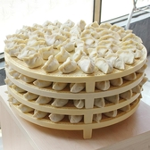 餐盤 天然竹面蓋簾可摞放多層餃子簾面食簾水餃帶加高腿放包子 星河光年
