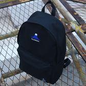 書包 日韓簡約風帆布雙肩包學生書包富士山刺繡旅行背包休閒時尚電腦包 艾維朵