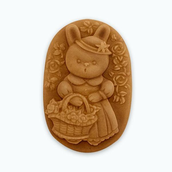 香草模子~童話故事-提著花藍的兔子小姐