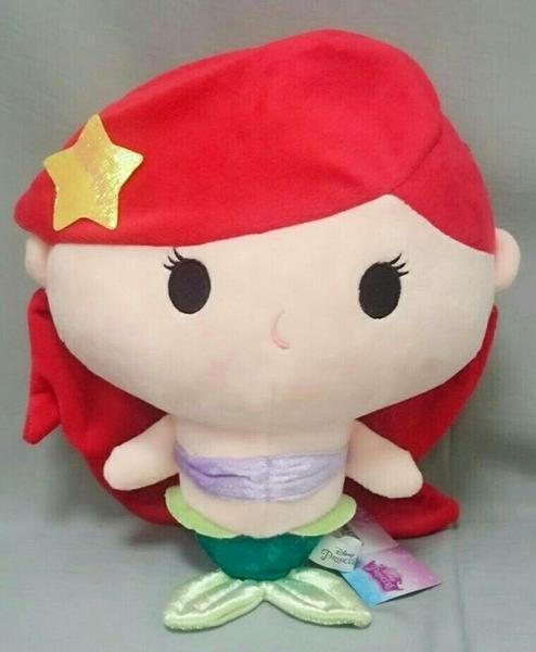 【現貨】《迪士尼》正版授權【小美人魚】艾莉兒 30公分 胖嘟嘟圓滾滾 抱枕絨毛娃娃 生日禮物