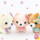 Hamee 正版授權 柴犬女子 櫻花蝴蝶結 三姐妹 絨毛娃娃 玩偶 兒童禮物 擺飾 (任選) HT-SB005