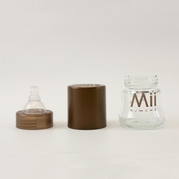 【愛的世界】Mii Organics 4oz寬口玻璃奶瓶1入-美國製-  - ---Mii 嬰兒用品