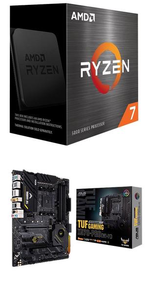 【自組DIY兩件組R58】AMD R7 5800X+華碩 TUF GAMING X570-PRO WIFI