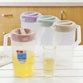 超大容量塑料冷水壺涼水壺耐熱耐高溫家用商用帶刻度量杯冷水壺【全免運八五折搶購】