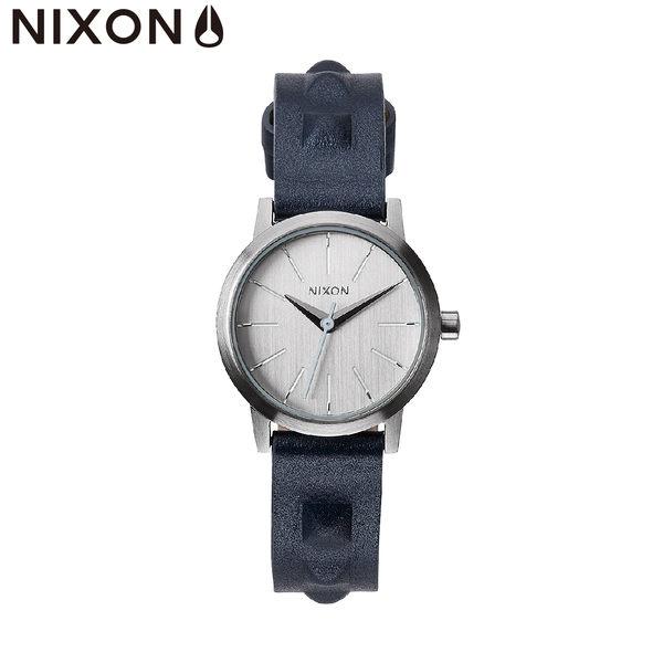 NIXON手錶 原廠總代理 A398-1619The Kenzie Leather深藍色 潮流時尚皮錶帶 男女 運動 生日 情人節禮物