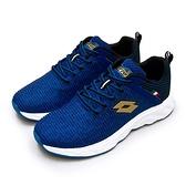 LIKA夢 LOTTO 專業輕量透氣慢跑鞋 TRON創跑系列 藍黑金 2526 男