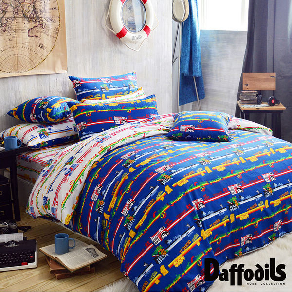 Daffodils《加勒比冒險》單人二件式純棉枕套床包組.精梳純棉/台灣精製