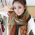 披肩 圍巾 條紋 絲巾 (2色)【Ann...