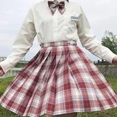 [金魚姬]梗豆物語百褶裙少女可愛jk格裙JK制服裙少女正版學生一套 怦然心動