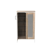 (組) 特力屋萊特 組合收納櫃 胡櫃黑網層銀網門白鐵腳 60x35x91cm