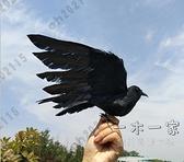 萬聖節裝飾 仿真羽毛烏鴉擺件萬圣節假鳥裝飾品攝影道具烏鴉教學模型仿真小鳥