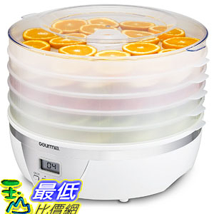 [107美國直購] 食物脫水器 Gourmia GFD1550 Food Dehydrator With Digital Temperature Settings