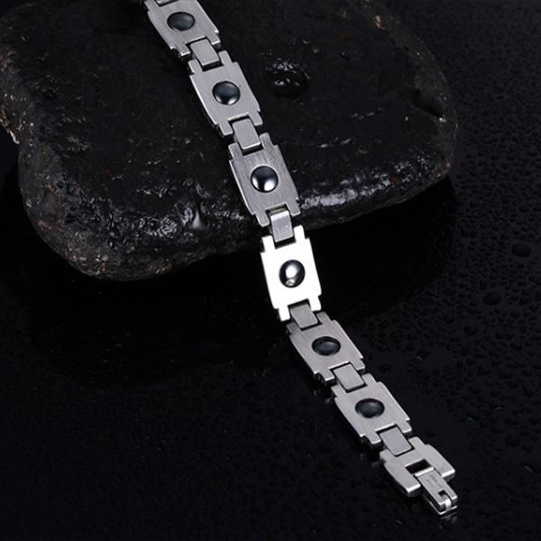 《QBOX 》FASHION 飾品【BR-078GF】 精緻個性道教避邪太極八卦圖騰鈦鋼手鍊/手環