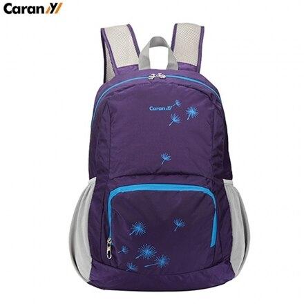 【CARANY】多功能可折疊後背包/購物袋/運動背包(紫色58-0021)【威奇包仔通】