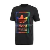 adidas 短袖T恤 Vintage Tee 黑 彩色 男款 純棉 正反三葉草圖案 【PUMP306】 ED6917