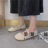 平底淺口鞋女百搭休閒時尚圓頭女鞋子【愛麗小鋪】