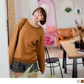 《AB5791》高含棉立體紋理設計大學T衛衣上衣 OrangeBear