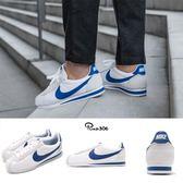Nike 復古慢跑鞋 Classic Cortez Nylon 白 藍 尼龍 阿甘鞋 男鞋 女鞋【PUMP306】 807472-102
