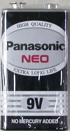 國際牌碳鋅電池9V-1入
