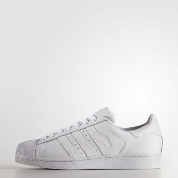 ADIDAS SUPERSTAR FOUND -男女款全白貝殼鞋- No.B27136