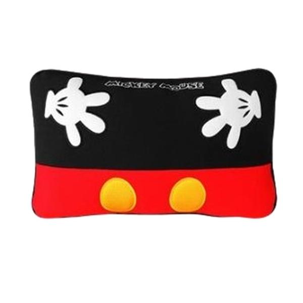 車之嚴選 cars_go 汽車用品【WDC164】迪士尼Disney Mickey Mouse米奇 舒適 腰靠墊 小抱枕 黑紅色1入