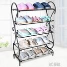 鐵藝鞋架 簡易門口鞋架子 家用 經濟型歐式進門多層鞋柜收納 3C優購
