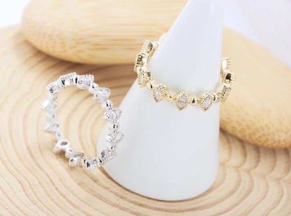 正韓時尚水滴鋯石指戒戒指~夏綠蒂didi-shop