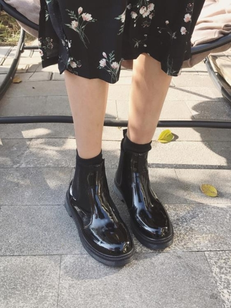 圓頭馬丁靴 短靴 切爾西靴機車靴 ☸mousika