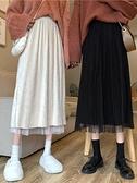 半身裙秋冬2021新款氣質復古中長款包臀裙女百搭高腰顯瘦a字裙子 童趣屋  新品