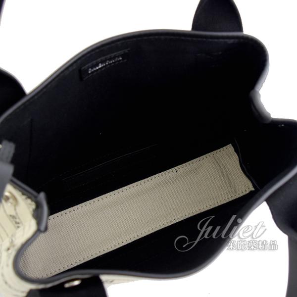 茱麗葉精品【全新現貨】BALENCIAGA 巴黎世家 390346 NAVY CABAS XS 帆布手提兩用包.白