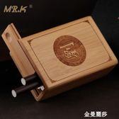 整包裝MR.K煙盒古典男士旱煙個性創意定制手工竹煙盒刻字送禮經典 金曼麗莎