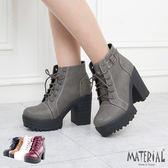 厚底短靴 簡約厚底高跟短靴 MA女鞋 T7789