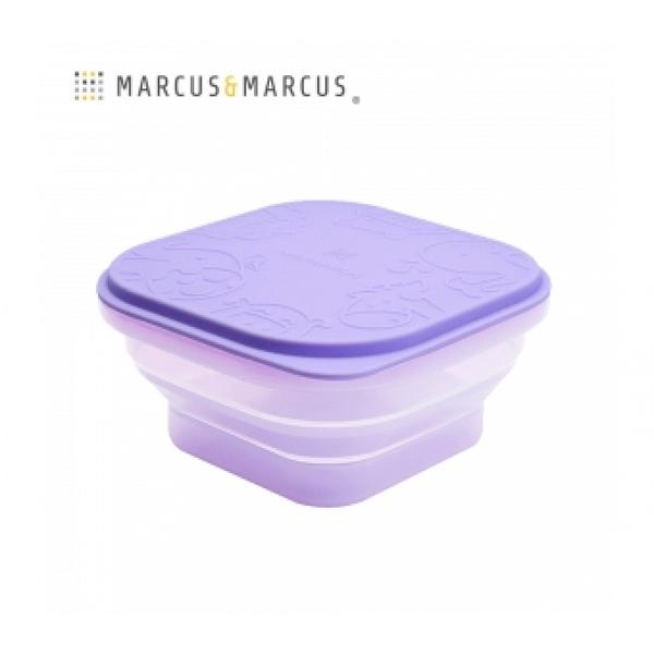 《 MARCUS&MARCUS 》果凍矽膠摺疊保存盒-紫 / JOYBUS玩具百貨