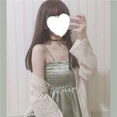 春夏女裝正韓修身中長款吊帶裙顯瘦高腰洋裝無袖洋裝學生限時八九折
