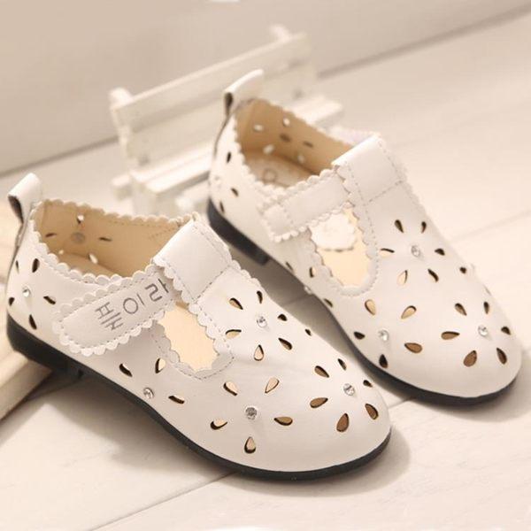 兒童女涼鞋新款正韓兒童單鞋時尚休閒鞋透氣鞋子【全館免運】