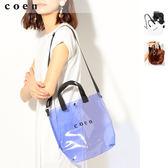 2WAY  LOGO PVC 透明托特包免運費 日本品牌【coen】